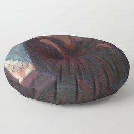 The Kiss - Edvard Munch Floor Pillow