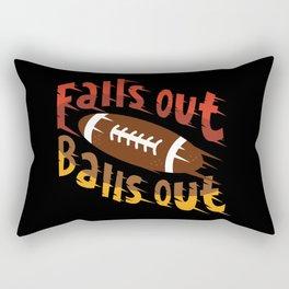 Falls Out Balls Out Funny Football League Draft Illustration Rectangular Pillow