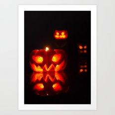 Glowing Halloween Art Print