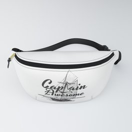 Captain Awesome  Anchor Funny Nautical Sailing Boat Gift Fanny Pack