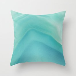 Geode Crystal Turquoise Throw Pillow
