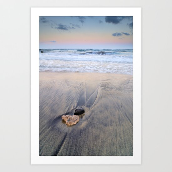 Pink sunset at the sea Art Print