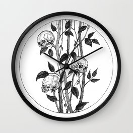 Funeral Roses Wall Clock