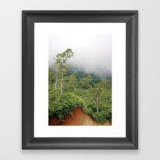 Rain forest world - travel print Framed Art Print