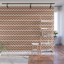 Cavern Clay SW 7701 Ligonier Tan SW 7717 and Creamy Off White SW7012 Chevron Horizontal Lines by pipafineart