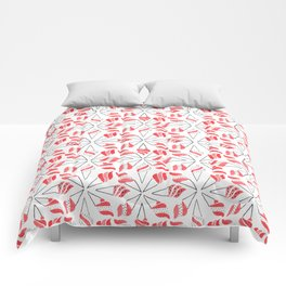 RED CONE / pattern pattern Comforters