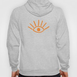 Orange Evil Eye Pattern Hoody