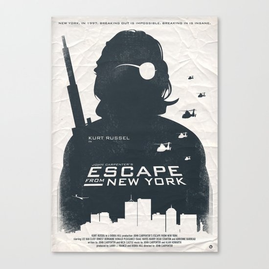 John Carpenter's Escape From New York Canvas Print