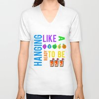 lyrics V-neck T-shirts featuring FROOT lyrics by Illuminany