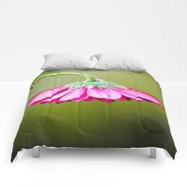Flower | Flowers | Pink Green Drooping Flower Comforters