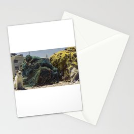 A cat and a fishing net Stationery Cards