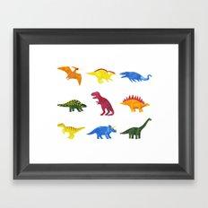 Dinosaurs! Framed Art Print