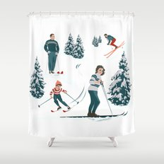Sports d'hiver Shower Curtain