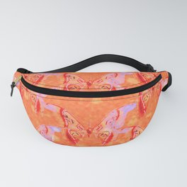 Colorful Painted Butterlies in Coral Orange Pink Color  #decor #society6 #buyart Fanny Pack