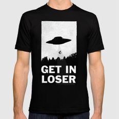 Get In Loser MEDIUM Black Mens Fitted Tee