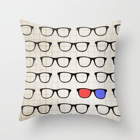 3D Hipster Throw Pillow