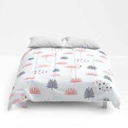 Minimal Flamingo Comforters