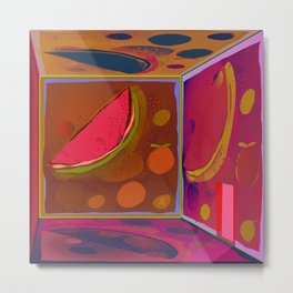 Virtual Experience of Tropical Tlavors in the Projection Room Metal Print