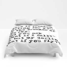 What if you fly? Vintage typewritten Comforters