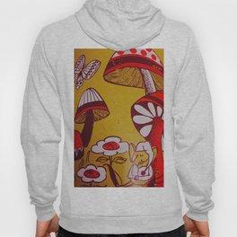 mushrooms and flowers Hoody