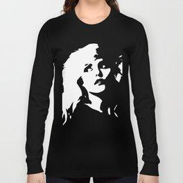 Blondie, Music Legend, Black, White, Cinema, Art, Author, Song Writer, Musician, Punk, Long Sleeve T-shirt