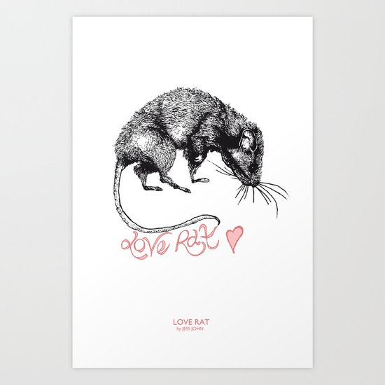 love rat Art Print