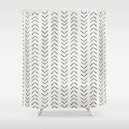 Mud Cloth Big Arrows in Cream Shower Curtain