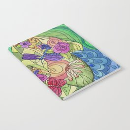 Stained Glass Garden Too Notebook