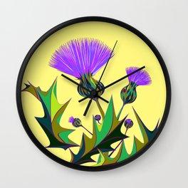 Kentucky Wildflower, Silybum Marianum Wall Clock