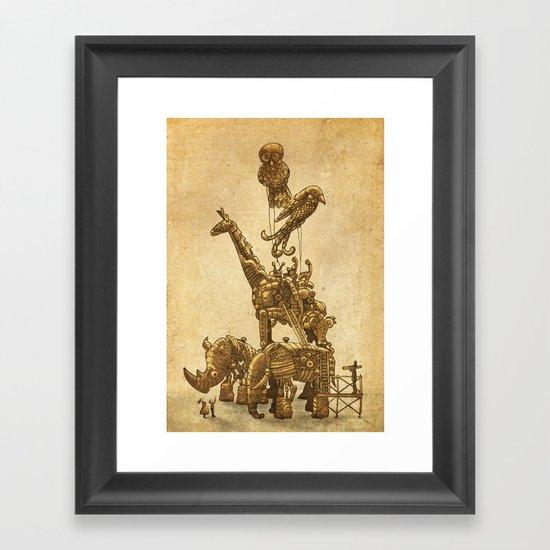 Mechanical Menagerie Framed Art Print