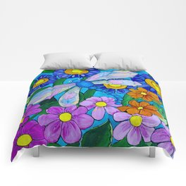 Springtime Series #1 Dragonfly coloured wings Comforters