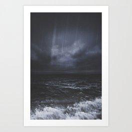 Lost in the sea Art Print