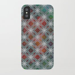 Abstract Star Flower Pattern iPhone Case