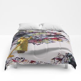 Pollock Clean Painting Parody Funny Abstract Comforters