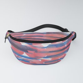 27  | 190408 Red Abstract Watercolour Fanny Pack