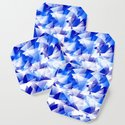 triangles in shades of blue by abstractify