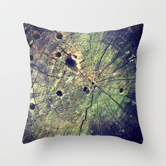 Nature Rings Throw Pillow
