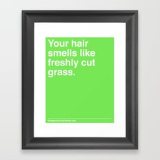 Freshly Cut Grass Framed Art Print