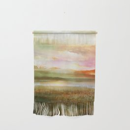 Sunset and flowers Wall Hanging