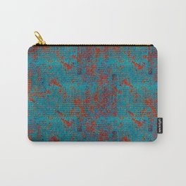 Turquoise with Red Carry-All Pouch