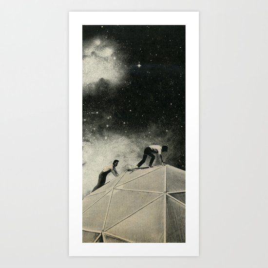 Space Station Maintenance Art Print
