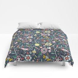 BOHO Chintz (Periwinkle grey) Comforters