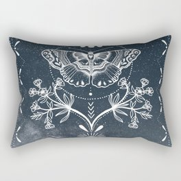 Magical Moth White Rectangular Pillow