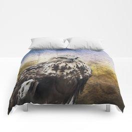 Found Somewhere Between - Bird Art Comforters