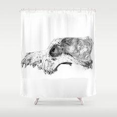 Wolf Skull Shower Curtain