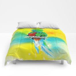 Quetzal - the most beautiful bird Comforters