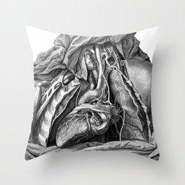Vintage reproduction - Tabulae neurologicae, 1794  Throw Pillow