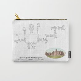 Hudson River State Hospital Blueprint Print Carry-All Pouch