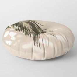 tropical palm leaves vi Floor Pillow
