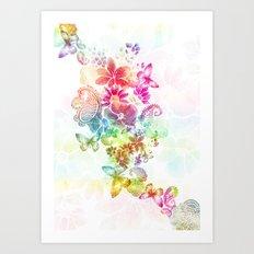 paisley flutter Art Print